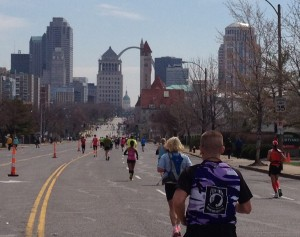 I took this photo during the marathon around mile 25. This is the incredible view I signed up for months ago.